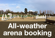 All-weather arena booking